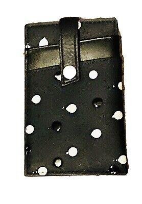 WANT Les Essentiels De La Vie CARD HOLDER Wallet Blue / Black / White Splatter