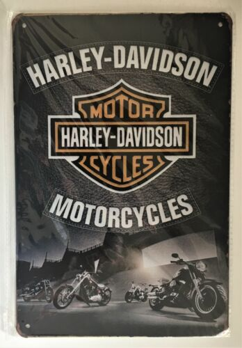 Harley Davidson Motorcycles Vintage Tin Sign ( Indian HD Fatboy Sportster Twin)