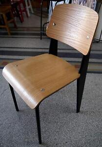 New Black Metal Replica Jean Prouve Timber Standard Dining Chairs Melbourne CBD Melbourne City Preview