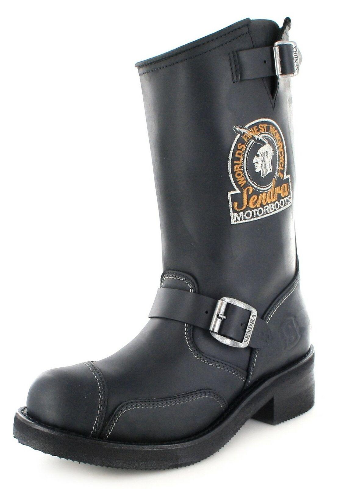 Sendra Boots Stiefel 3565 Steel Schwarz Bikerstiefel Engineerstiefel