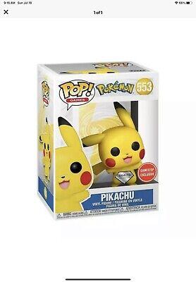 Pokemon- Pikachu Diamond Funko Pop GameStop Diamond Exclusive #553 ,