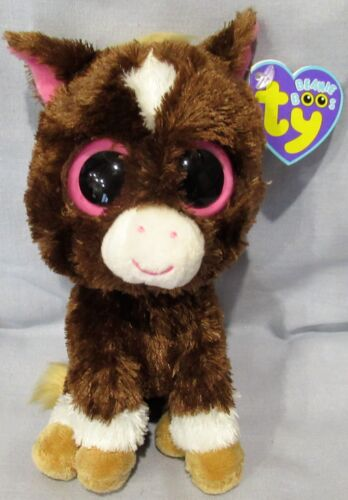 """DAKOTA the DARK BROWN Horse - Ty 6"""" SOLID EYES  Beanie Boos  NEW with MINT TAGS"""