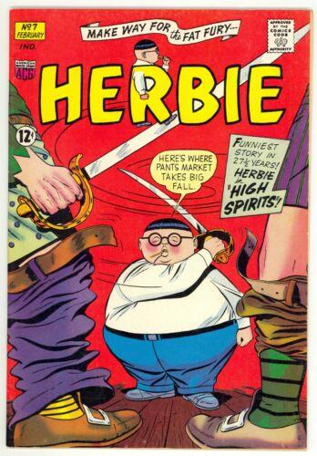 Herbie (164) #7 1st Print ACG Ogden Whitney Cover & Art The Fat Fury VF-