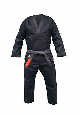 Your Jiu Jitsu Gear BJJ Gi Uniform NEW Dark Black (A4 6'2 - 6'4 height)