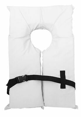 Type II White Life Jacket Vest - Adult Universal Boating PFD