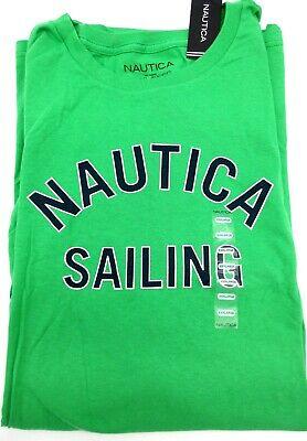 NWT NAUTICA Sailing Summer Green Short Sleeve T-Shirt MEN'S 3XL XXXL Authentic