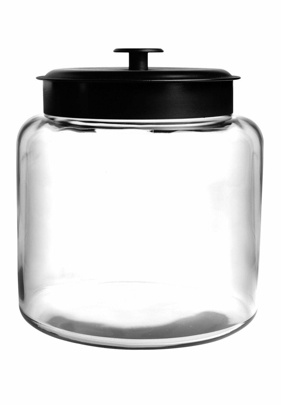 Anchor Hocking 88904 1.5 gallon Montana Jar with Black Metal