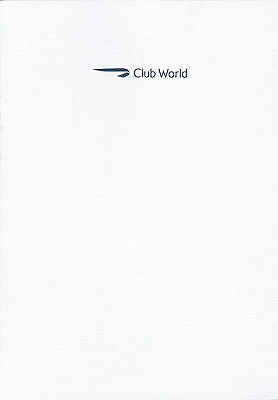 (11573) BA British Airways Club World Business Class Menu May 2016 on Lookza