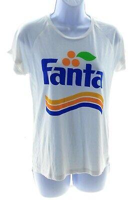 Coca Cola Juniors White Short Sleeve Fanta T Shirt Casual Top Size XS