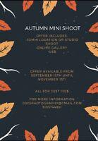 Autumn mini shoot! Affordable prices!