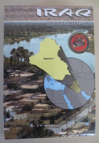 IRAQ CULTURE MILITARY SMART CARD USMC MCIA Local Customs Languages Phrases