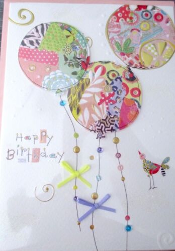 Papyrus Turnowsky Patchwork Balloons Birthday Greeting Card
