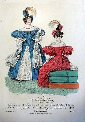 Po05 Frankreich Paris Kostüm Mode Gravur Mode Antik 19e - Kostüm Paris Frankreich