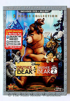 Disney Double Feature Brother Bear And Brother Bear 2 Movie Dvd And Blu Ray Pack