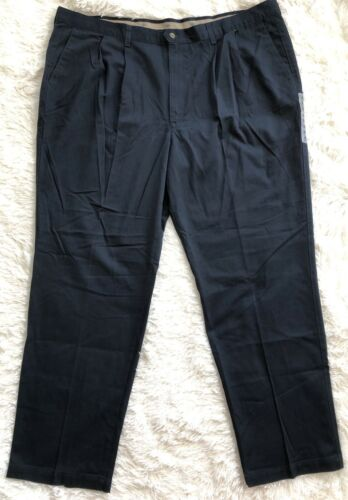 nwt men s navy blue pleated front