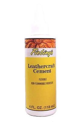 Fiebing's Leathercraft Cement, 4 oz - High Strength Bond for Leather Projects