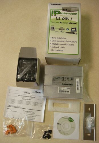 New Aiphone IPW-1A Network Intercom Over IP Adapter Open Box Complete Qty Avail