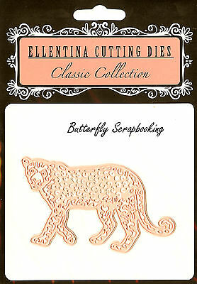 LEOPARD Zoo Wildlife Craft Cutting Die Ellentina Die DCN116 Tessler Crafts New (Zoo Craft)