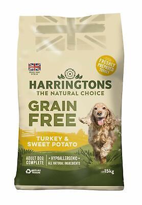 Harringtons Complete Grain Free Hypoallergenic Turkey Adult Dry Dog Food 15kg