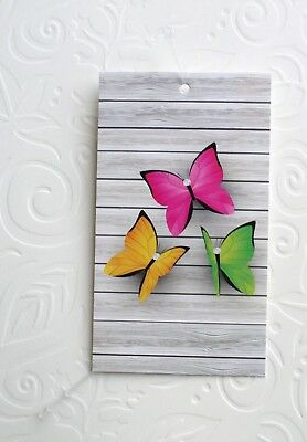 100 Hang Tags Accessories Tags Cute Butterflies Tags Clothing Tags Plastic Loops