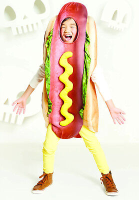 Hot Dog Halloween Costume Child Kid 4-16 Funny Food - Baby Hot Dog Halloween Costumes