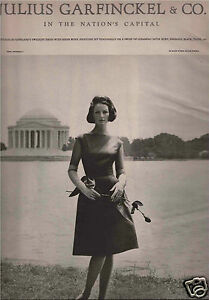 Julius Garfinckel & Co. Fashion Advertisement - Toni Frissell  1962