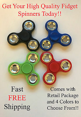 Fidget Finger Tri- Spinner For Kids/Adults EDC Hand Stress Relief Focus
