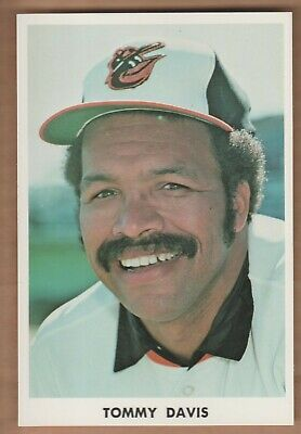 TOMMY DAVIS 1970's Baltimore Orioles Team Issue Color Photo Postcard WC ()