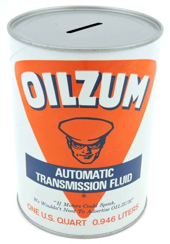 Vintage Oilzum Automatic Transmission Fluid bank 1 QT promo advertising can