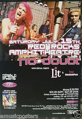 NO DOUBT / LIT / BLACK EYED PEAS 2002 DENVER CONCERT TOUR POSTER -Alternative