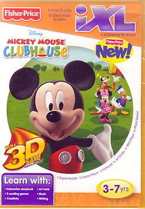 Fisher-Price-iXL-Learning-System-Software-Mickeys-Clubhouse-3D-NEW-CD-Rom