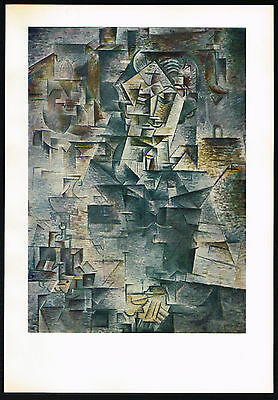1950s Vintage Abstract Man Portrait Pablo Picasso Art Offset Lithograph Print