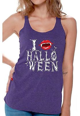 Halloween Workout Racerback Tank Top Women's I Fangs Halloween Scary Fangs Party