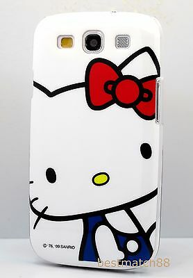 for Samsung galaxy s3 phone case cover cute hello kitty cat  white red blue (Hello Kitty Phone Case For Galaxy S3)