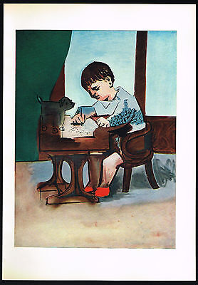 1950s Old Vintage Abstract Boy Pablo Picasso Art Offset Lithograph Print