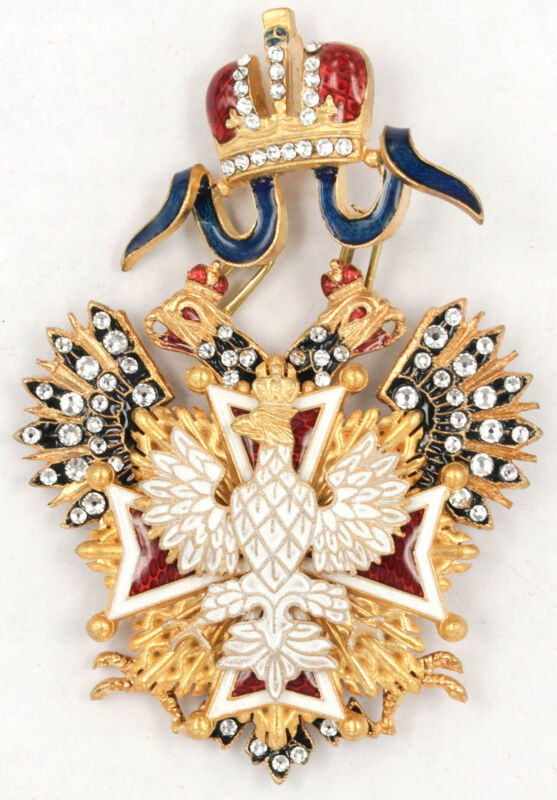 ORDER OF THE WHITE EAGLE CROSS WITH RHINESTONES