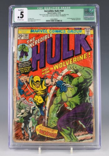Incredible Hulk #181 CGC 0.5 First Full Appearance of Wolverine