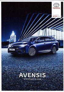 Toyota Avensis 01 / 2016 catalogue brochure depliant - <span itemprop='availableAtOrFrom'> Varsovie, Polska</span> - Toyota Avensis 01 / 2016 catalogue brochure depliant -  Varsovie, Polska
