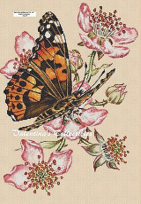 Butterfly and Blossoms Counted Cross Stitch Chart No. 2-297