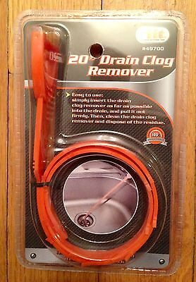 """20"""" Drain Snake Clog Remover Sink Hair Tool Removal Cleaner NEW"""