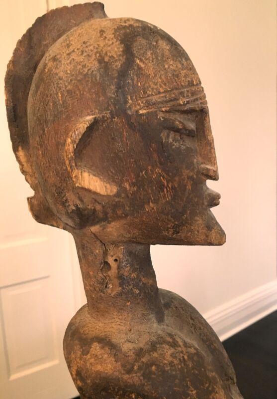 African Art Dogon Figure Mali Carved Wood Sculpture Sacrificial Patina