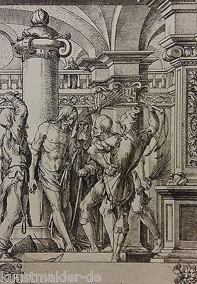 Hans HOLBEIN (1497-1543) Radierung Édouard Lièvre (1828-1886) La Passion 02/10
