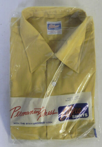 1972 Elbeco Uniform Long Sleeve Gold Yellow Shirt with Obsolete US Mail Patch