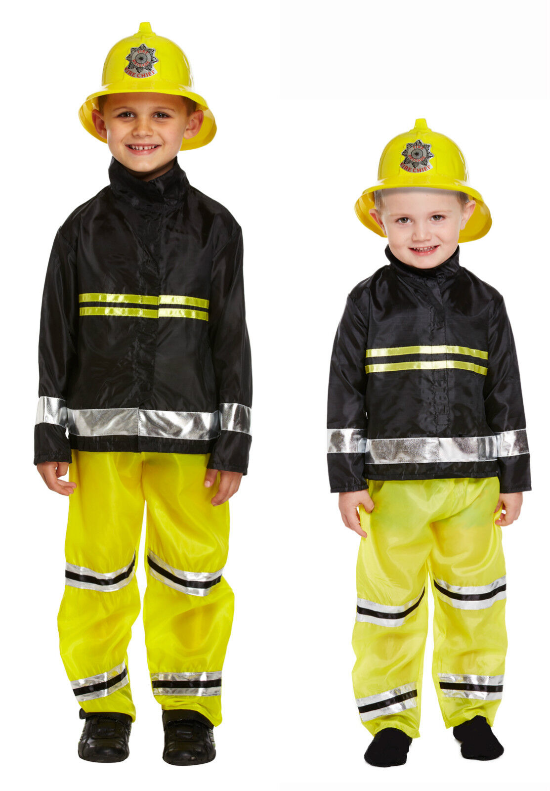 Fire Fighter Fireman Sam Dressing Up Costume Fancy Dress