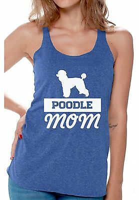 - Poodle Mom Workout Racerback Tank Top Dog Lover Gift for Her
