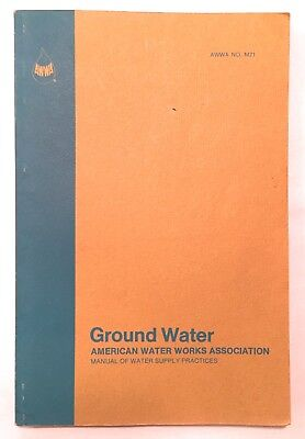 American Water Works Association Awwa Ground Water Supply Practice Manual M21