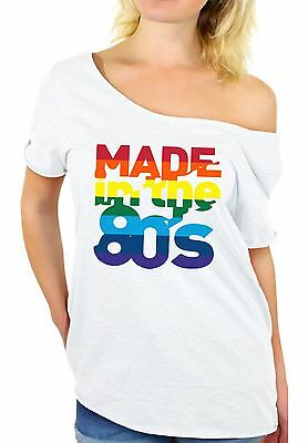 Made in The 80's Off The Shoulder Tops T shirts Women's Birthday 80s Party Disco