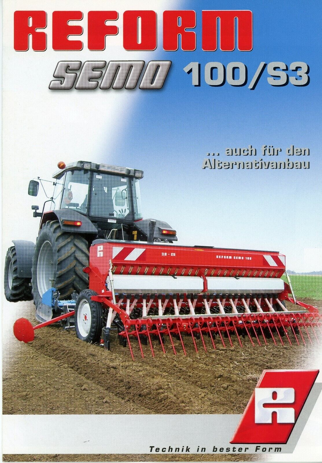 Reform Semo 100/S3 seed drill leaflet