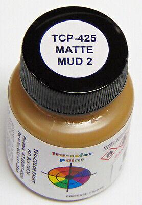 MATTE MUD 2 TRU-COLOR AIR BRUSH READY PAINT N HO O On30 Model Railroad TCP4252