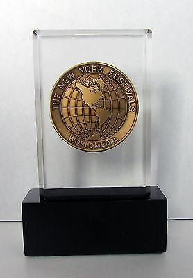 New York Festivals Worldmedal Award Trophy - Television & Film Statue TV Medal